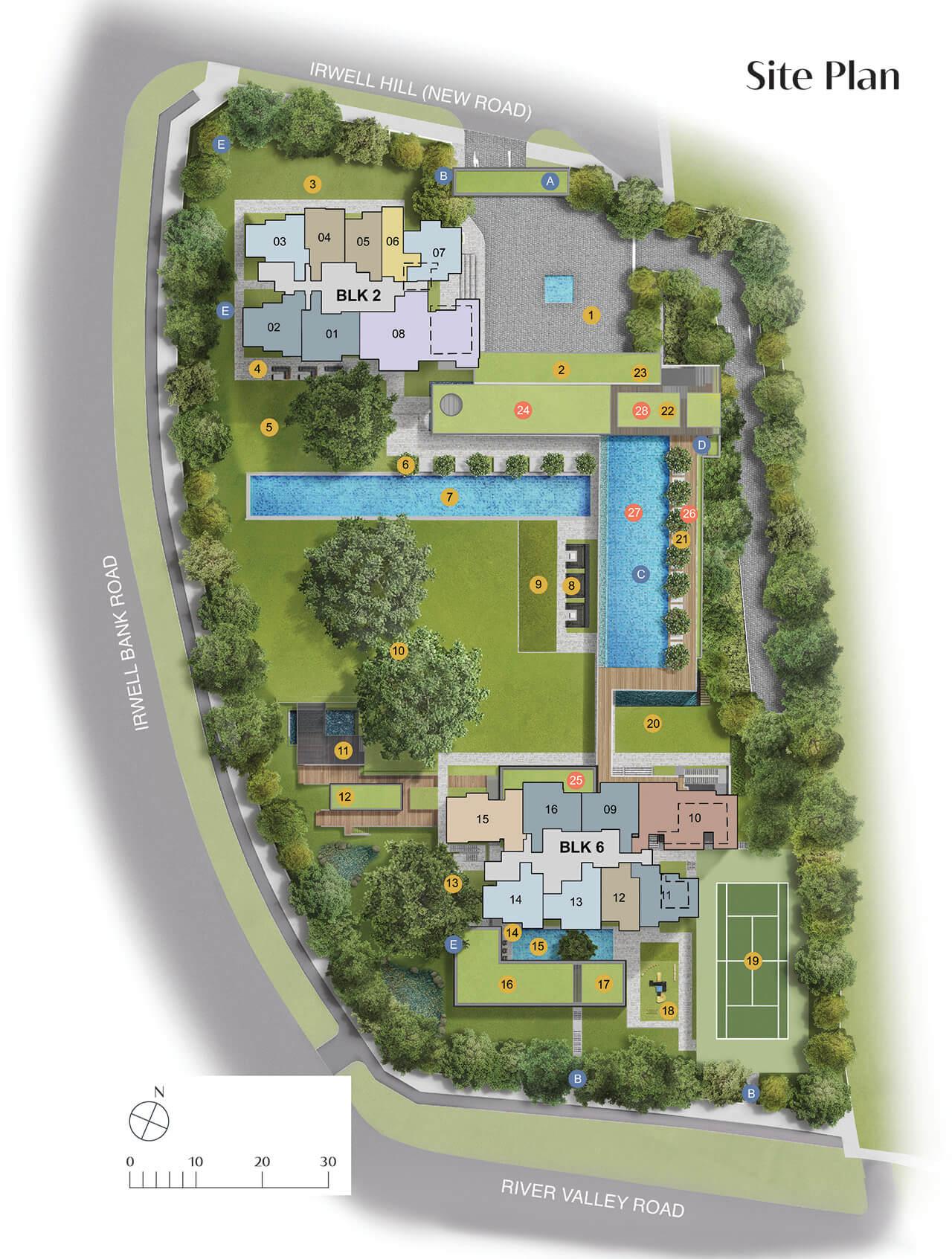 Irwell Hill Residences Siteplan